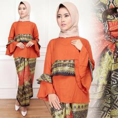 Vrichel collection Stelan Batik Wanita Viti (Orange)
