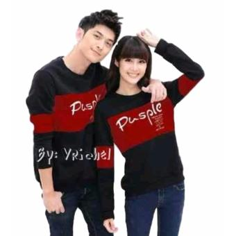 Vrichel Collection Sweater Couple Pusple (Black-Maroon)