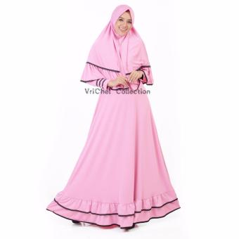 Vrichel Collection Syari 2in1 Bella (Pink)