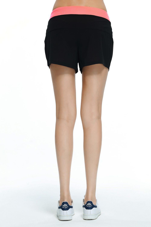 ... Wanita celana pendek olahraga lari sabuk warna celana Yoga jerukxl s04 International
