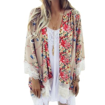 Hanyu Bunga Cetak Wanita Vintage Cardigan Warnawarni. Source · Wanita Longgar Kain Sutera Tipis Kimono Cardigan Panjang BermotifBunga Renda Kampuh Lengan ...