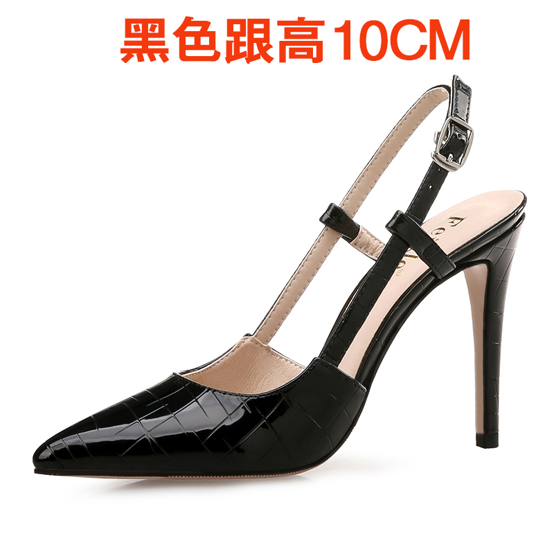 Wanita ukuran besar bertumit tinggi dengan baik dengan sepatu wanita kode  kecil sandal (Hitam 10 1a6e40a69e