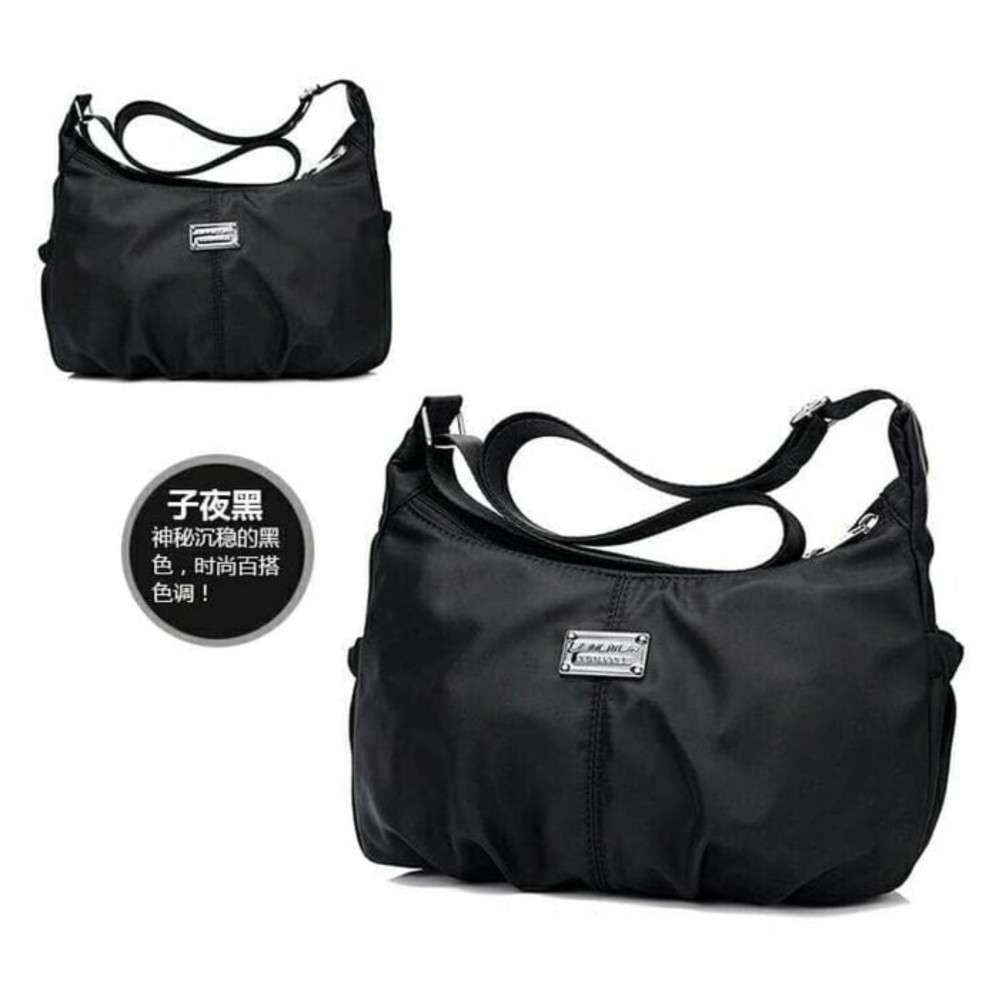 Tas Selempang Bucket Bag Wanita Import Fashion Warna Random Daftar Waist Fila Slempang Keren Waterproof Nylon Shoulder