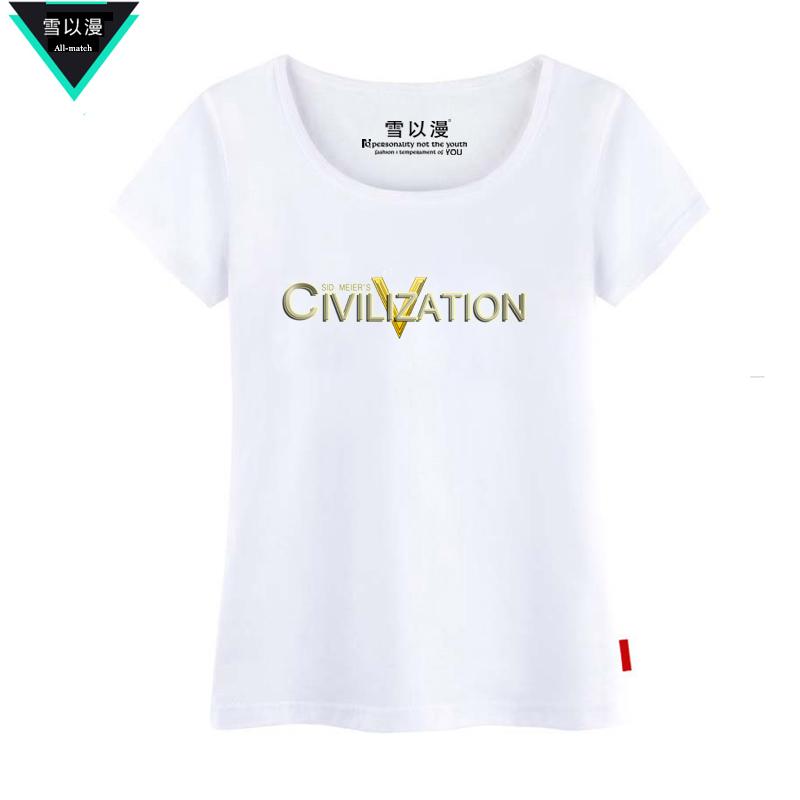 Cheap online Wen Ming salju permainan Zhou Bian katun lengan pendek t-shirt (Pinggang