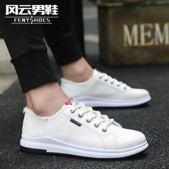White wild summer men's casual shoes tide shoes (586 putih)