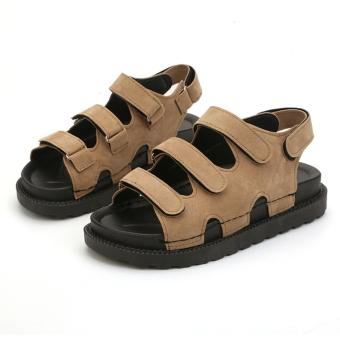 Wild female summer New style shoes sandals (Khaki) Pencarian Harga Termurah Perbandingan harga