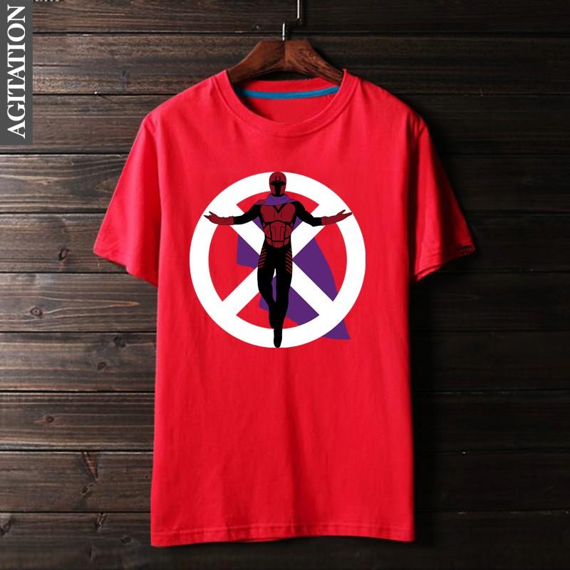 Cheap online Wolverine Zhou Bian Produk Katun Lengan Pendek Leher Bulat T- shirt (Merah) (Merah)