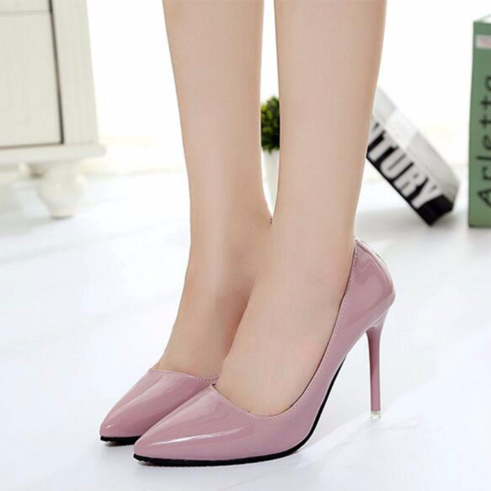 ... Woman Sexy Pointed Toe Assorted High Heels Women Evening Shoes Ladies Pink - intl ...