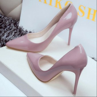 Woman Sexy Pointed Toe Assorted High Heels Women Evening Shoes Ladies Pink - intl