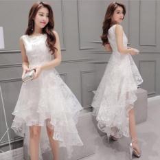 Women Korean organza Little White Mermaid Wedding bridesmaid Party Dress - intl