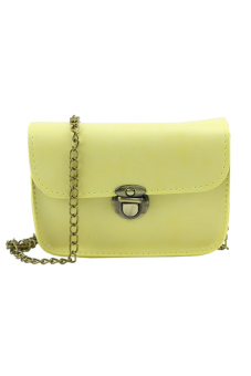 Women Shoulder Bags Messenger Faux Leather Crossbody Tote SatchelHobo Handbag[Yellow]