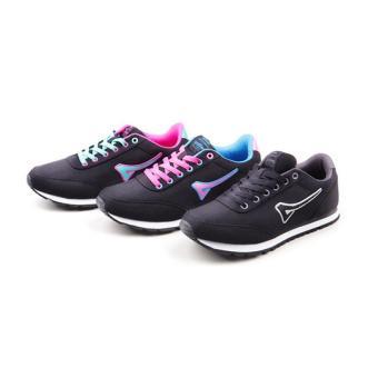 Women Teaberry Hitam Biru Running Shoes - 4