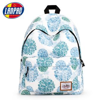 Women's fashion Backpack With Floral Printing 15 inch Laptopsleeves and Waterproof - intl