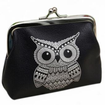 Wanita Fashion Dompet Koin Mini Pemegang Kartu Kasus Kopling Tas Tangan Tas Burung Hantu