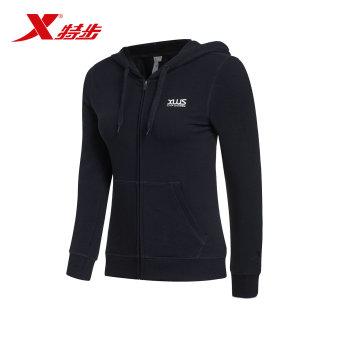 Beli Xtep nyaman musim semi baru ringan kebugaran sweater perempuan dan kebugaran t-shirt (Hitam) Terpercaya