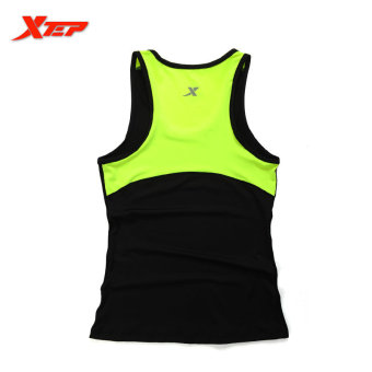 XTEP Women Running Fitness Sleeveless Vest Summer Style Yoga Shirts Top Quick-Drying Female Women Gym Sport Shirt (Black) - intl