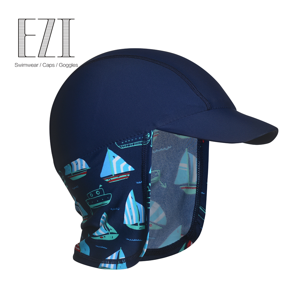 Flash Sale Yizi 8004a anak laki-laki soft visor sabuk leher topi renang topi renang