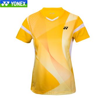 harga Yonex pria dan wanita klub jersey bulu tangkis pakaian (Model perempuan 210157 kuning) Lazada.co.id