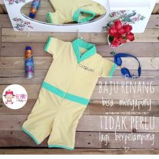 YooBerry Cuddle Me Go Swim Baju Renang Auto Terapung / Floating Swimsuit Yellow