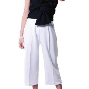 Yoorafashion Celana Kulot Wanita - Basic Cullotes Pants [White Putih]