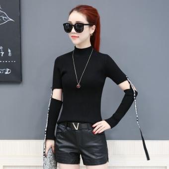 Perbandingan harga YOUNGIN Korea Fashion Style perempuan Musim Semi dan Gugur baru kemeja bottoming merajut kemeja