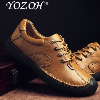 YOZOH Men Dress Shoes Formal Men Shoes Genuine Leather Business Classic Office Mens Casual Oxford Shoes - intl