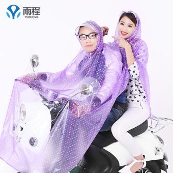 Harga Penawaran Yucheng transparan sepeda motor besar Ukuran Plus ponco ganda jas hujan (Ganda topi