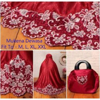 Yuki Fashion Mukena Alifah Dewasa - Maroon1 - Best Seller