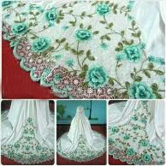 Yuki Fashion Setelan Mukena Dewasa Khadijah Bordir - Tosca 2 - Best Seller