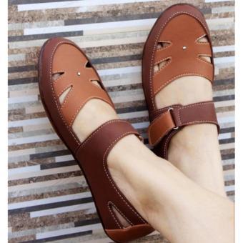 Yutaka Flat Shoes Coklat