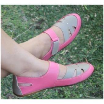 Yutaka Flat Shoes Pink Krem