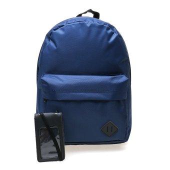 Zada Basic Backpack Pria Bonus Card Holder - Navy