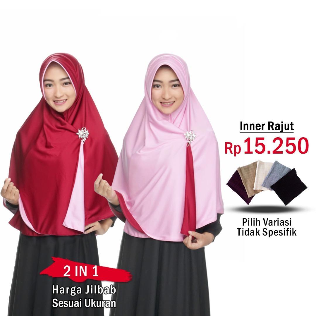 KHIMAR CANTIK 3 LAYER JUMBO BEST SELLER. Source · Zannah Hijab Jilbab 2 Warna Jilbab