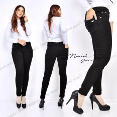 ZJeans Celana Jeans Wanita terbaru Skinny Stretch Jeans  Hitam Polos 27-30