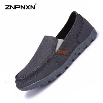 ZNPNXN Men'S Shoes Canvas Shoes Casual Shoes Mens Slip On ShoesSolid Color Men Casual Shoes mens