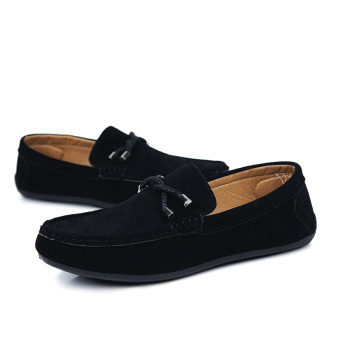 ZOQI man's Slip-Ons&Loafers fashion cow suede leather Shoes(Black) - intl - 3