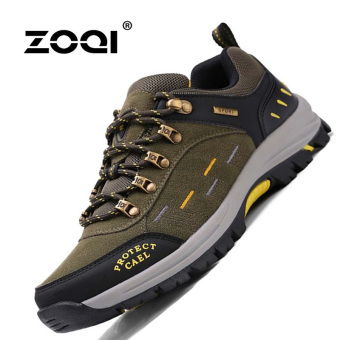 ZOQI Summer Man's Fashion Sneakers Outdoor Sport Casual BreathableComfortable Shoes(Army Green) - intl