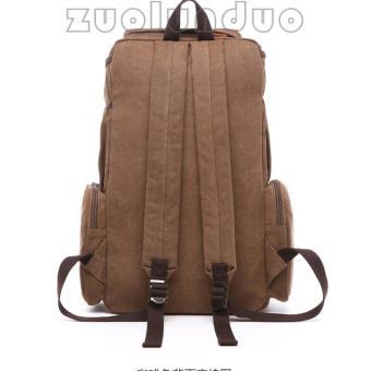 Coklat Cari Source · Premium Quality Source Zuo lun duo Tas Ransel Kanvas . 77c1e0bbb65aa