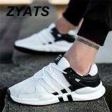 ... ZYATS 2018 Pria Baru Olahraga Ringan Fleksibel Athletic Gym Menjalankan Sepatu Sneakers Sepatu Berjalan Kasual ...