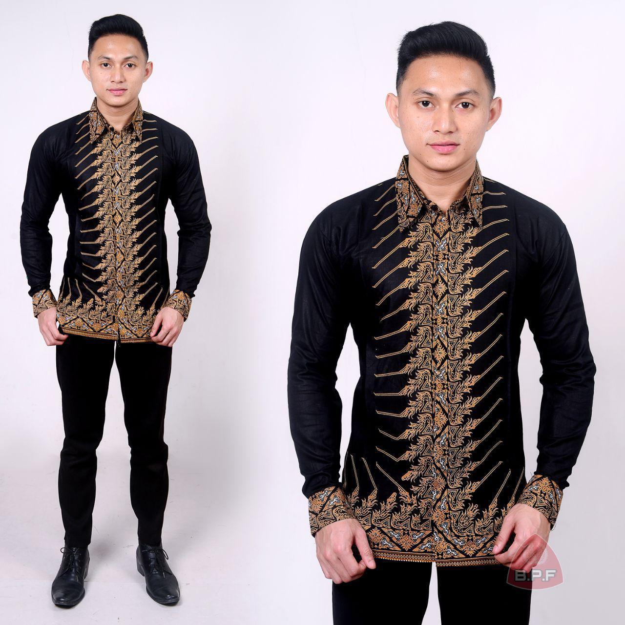 Kemeja Batik Lengan Panjang Asepmodel Baju Pria Batik Terbaru 2019batik Pria Batik Lengan Panjang Batik Baju Batik Baju Batik Pria Batik