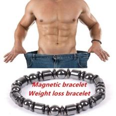 1 PC Weight Loss Bulat Hitam Terapi Batu Magnet Gelang Kesehatan Panas