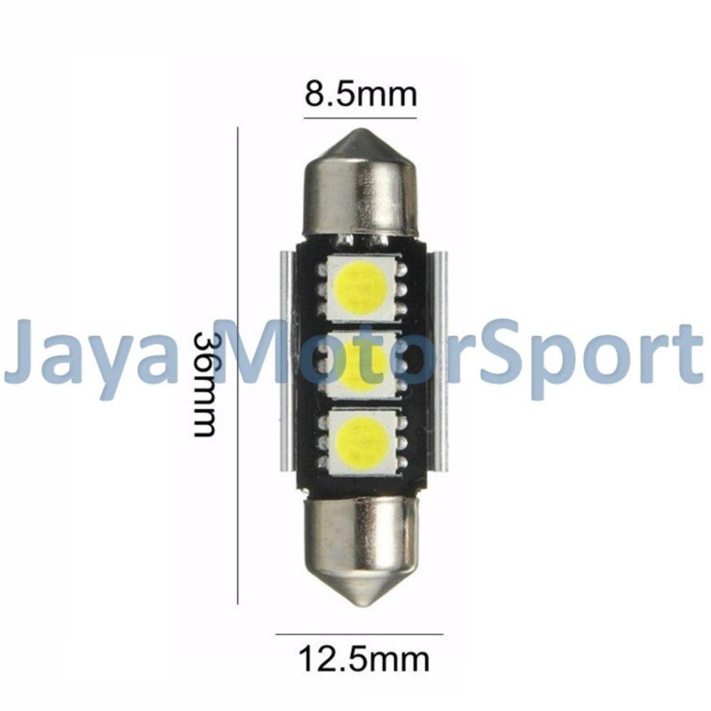 Diskon Penjualan 1 Pcs Lampu Led Mobil Kabin Plafon Festoon Universal 6 Double Wedgecanbus 3 Smd 5050