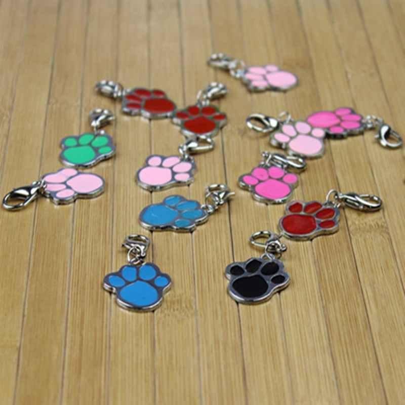 1 Pcs Pet Jewelry Decor Dog Necklace Paw Print Cat Pendant Charm Pet Collars - intl