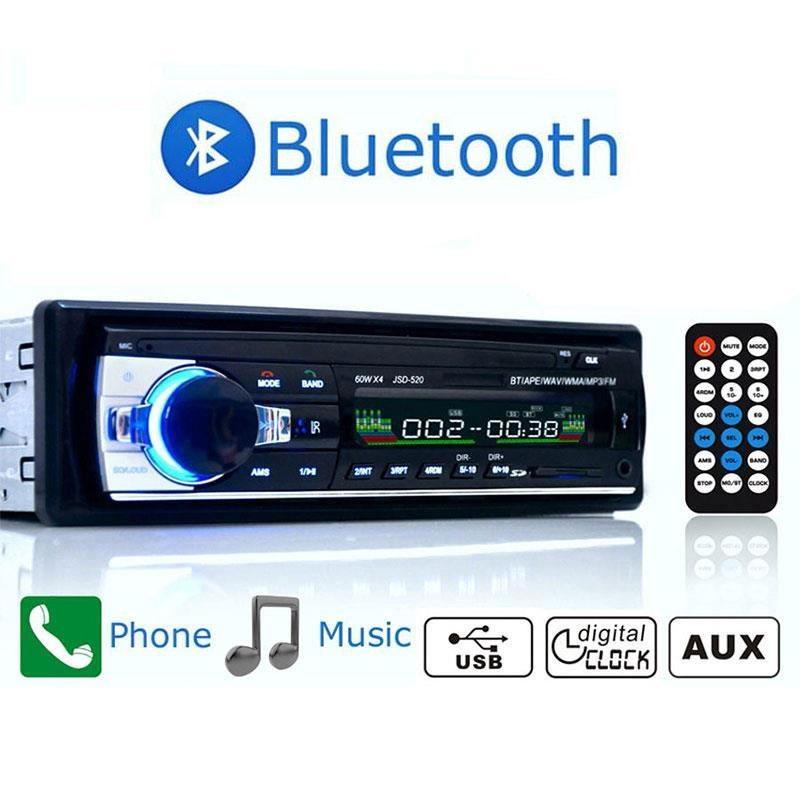 12 V Di Dash mobil kendaraan Stereo Radio USB / SD / AUX / FM Bluetooth Head Unit
