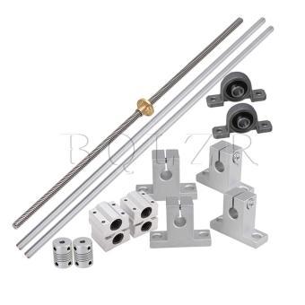 15x 0.8cm Lead Rod 40cm Linear Rail Shaft Supports Stepper Coupler Horizontal - intl