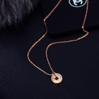 Kb Nyata Emas Berlapis Rantai Source · 18 k Korea Fashion Style perempuan .