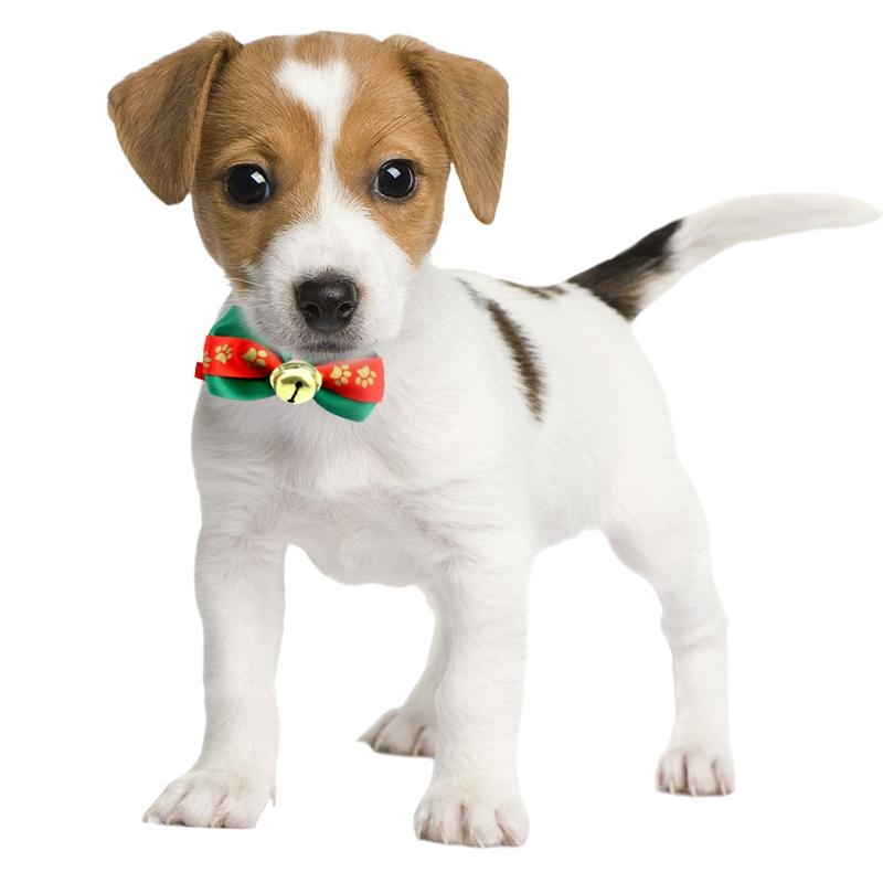 ... 1pc Handmade Christmas Dogs Festival Lace Bow Ties Dog Tie PetJewelry Accessories - intl ...