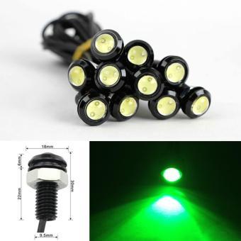 2 Buah 18 Mm 9 Watt LED Lampu Kabut Mobil Mata Elang DRL Lari Siang Sinyal Lampu Mundur Moonar (putih) - Internasional - 4