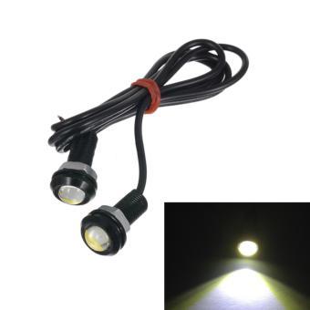 2 Buah 18 Mm 9 Watt LED Lampu Kabut Mobil Mata Elang DRL Lari Siang Sinyal