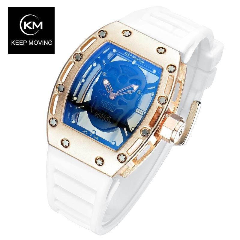 jam tangan sport pria DUAL TIME strap ruber water resist. Source ... 2 4c83623789